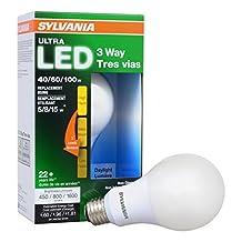 Sylvania Home Lighting Ultra 3-WAY LED Light Bulb 40/60/100W Replacement, Daylight 5000K, 25,000 hour life - A21, E26 Medium Base, 74086 - Energy Star (5/8/15W)