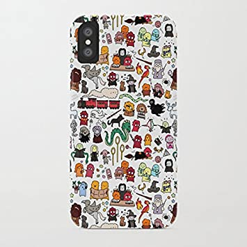 ZQ-Link Funda iPhone X Casas de Harry Potter Estuche de Silicona,TPU Diseño Impreso + Delgado Anti-arañazos Suave Jelly Crystal Silicona Cáscara Dibujos Animados Patrón: Amazon.es: Electrónica
