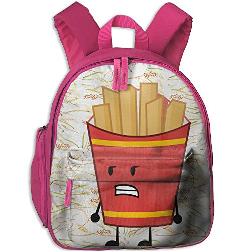 French Fries Comfy School Bags,Custom Cute Children Shoulder Daypack,Print Backpack For Kids