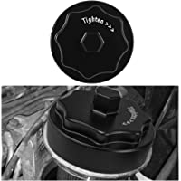 Aluminum Fuel Filter Housing Cover Cap - Fits for 2010-2020 Dodge Ram 6.7L 2500 3500 4500 5500 Cummins Diesel Engine (Black)