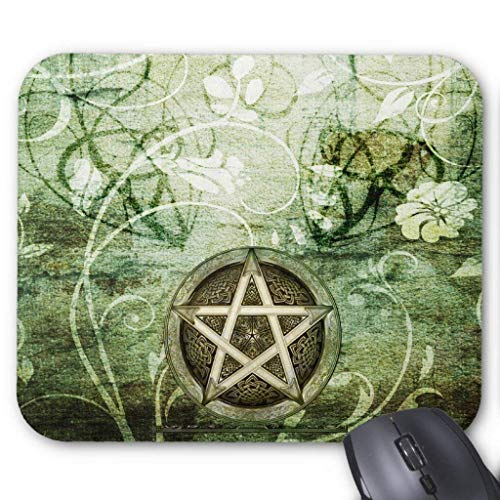 (JOMYY Wristband Wicca Rustica: Woodland Pentacle Mouse Pad Computer Accessories Anti-Friction 18X22)