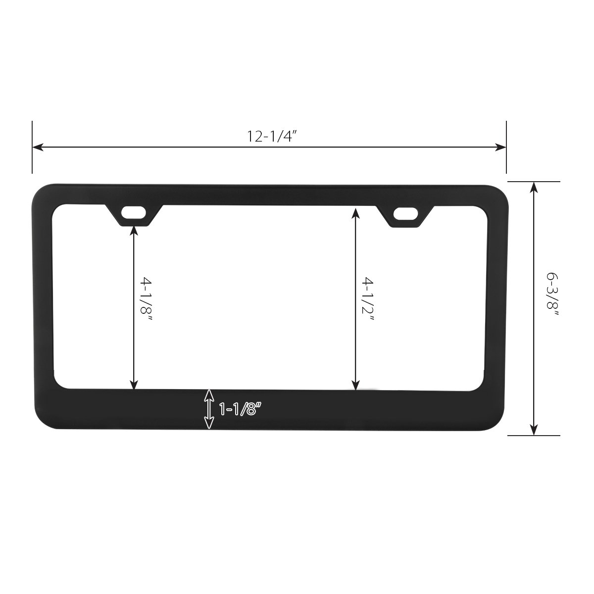 Grand General 60454 Superior License Plate Frame Grade #304 Stainless Steel 2 Holes