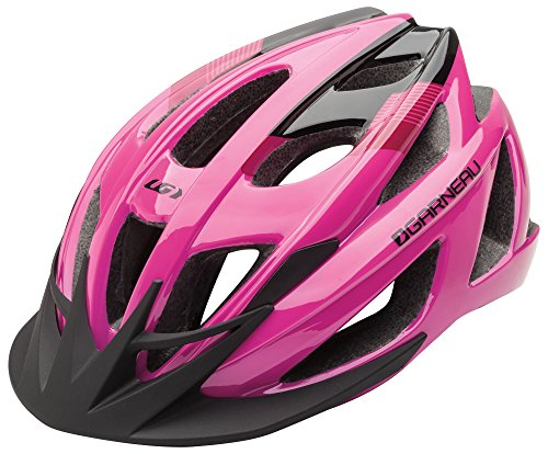 (Louis Garneau Le Tour 2 Lightweight, Adjustable, CPSC Safety Certified Bike Helmet for Men and Women, Pink, Medium/Large)