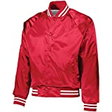 Augusta Activewear Men's Satin Baseball Jacket/Striped Trim