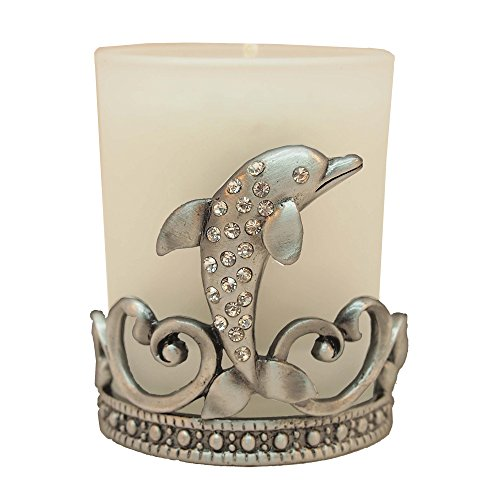 All For Giving Dolphin Votive Candle, Pewter