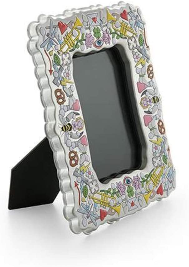 Alessi Rockcoco Sj02-Design Photo Frame in Tinplate with Decoration One Size Multicolor