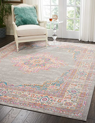 Amazoncom Nourison Psn03 Passion Grey Area Rug 8 X 10 Kitchen