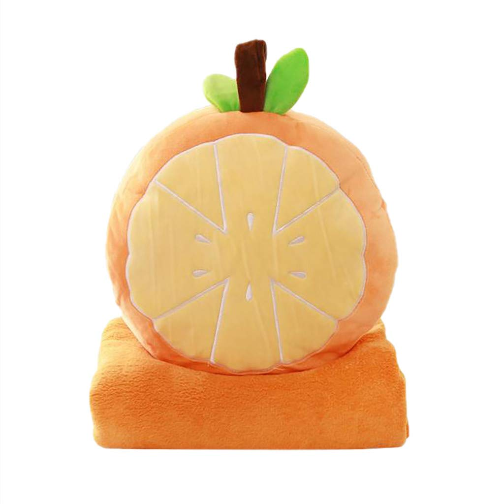 LIUguoo Home Decor Creative Novelty 3D Simulation Fruit Series Pillow Soft Elasticity Plush Sofa Cushion