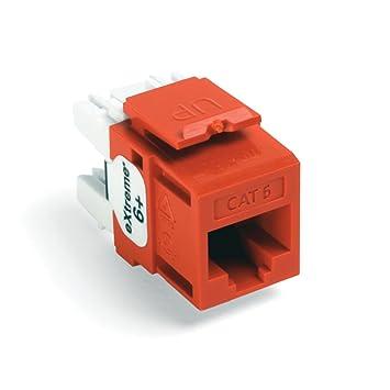 51lAynrmOvL._SY355_ amazon com leviton 61110 ro6 extreme 6 quickport connector, cat leviton 41106-rw6 wiring diagram at fashall.co