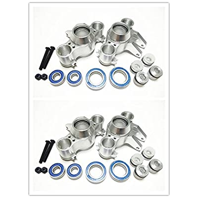 CrazyRacer HD Aluminum Axle Carriers Front and Rear with Bearing -4PCS Set Silver for 1/10 Old E-Revo Summit E-MAXX T-Maxx3.3 Slayer Pro 4X4 5334R: Toys & Games