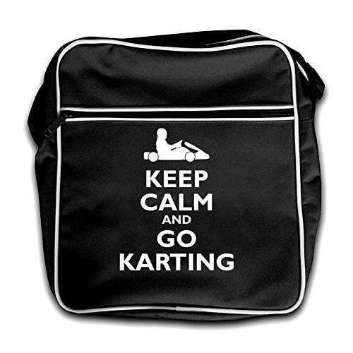 Go Black Karting Keep and Black Retro Calm Flight Bag nx0EWH