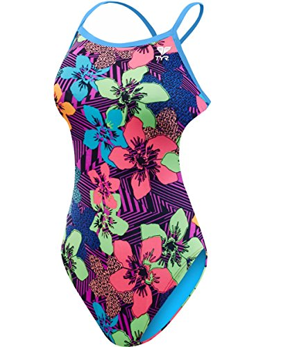 TYR Women's Ohana Crosscutfit Swimsuit, Purple, Size 28