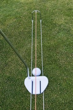 Putt Improver Outdoor - Golf Putting Training Aid, improve your short game, Easy Set Up, Instant Feedback, perfect for Kids and Adults - Beginners or Pros by Golf Improver
