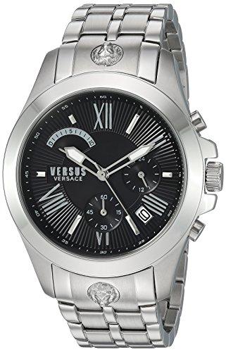 Versus by Versace Men s   Chrono Lion Extension Quartz Stainless Steel  Watch, Color Silver 02525defb72