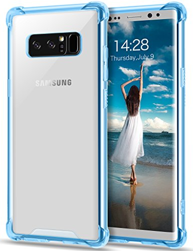 Sumsang Galaxy Note 8 Transparent Case, GeekZone Note 8 Slim Fit Lightweight Crystal Case Scratch Resistant Hard Back Panel Shockproof TPU Bumper with Cushion Technology Drop Protective Case