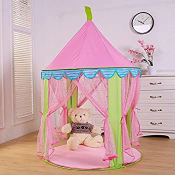 Steegic Pop Up Princess Castle Tent Anti-Mosquito Kids Playhouse-Pink & Amazon.com: Fun2Give Pop-It-Up Princess Castle Tent Playhouse ...