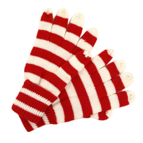 Knitting Vertical Stripes Different Colors : Soft knit women s striped gloves different colors