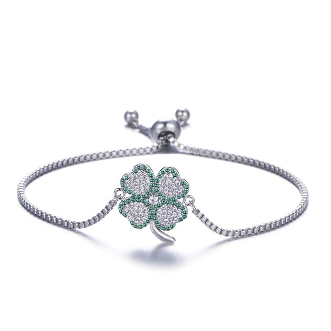 Mrsrui Crystal Jewelry Bridal Rhinestone Bracelet Stretch - Ideal for Wedding, Prom, Party or Pageant (A)