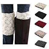 Bestjybt Womens Short Boots Socks Crochet Knitted Boot Cuffs Leg Warmers Socks