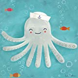 Oopsy Daisy Fine Art for Kids Let's Set Sail Octopus Canvas Wall Art by Anne Bollman, 21 x 21''