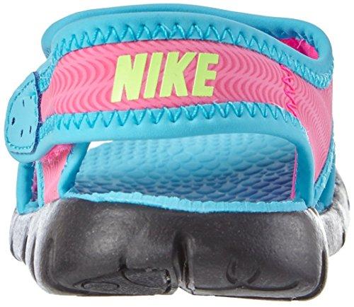 Nike Sunray Adjust 4 (TD) - Sandalias, Niñas Multicolor (Pink Blast / Ghst Grn-Gmm Bl-Blk)