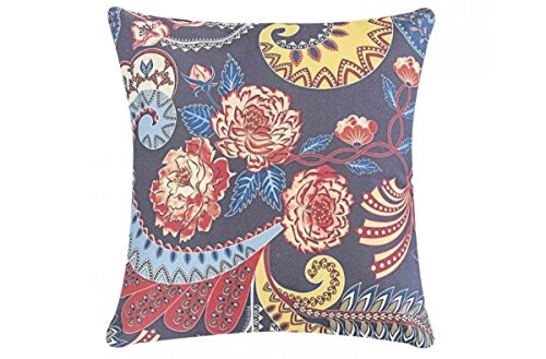 Capa + Almofada Decorativa Fantasy 48cm x 48cm Arabesco Floral