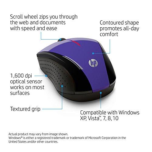 HP X3000 Wireless Mouse, Purple (K5D29AA#ABA)