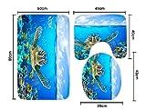 super bowl 35 dvd - Homespun Set Of 3 Piece Sea Turtle Blue Bath Mat Anti Slip Toilet Mat Microfiber Floor Rugs