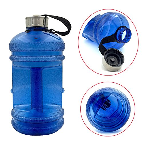 2.2 Ltr large capacity water bottle outdoor sport gym fitness training camping running water workout training by Mos ms
