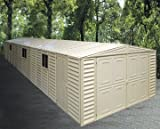Duramax 10x29 Large Vinyl Storage Shed Kit Building (with Foundation)