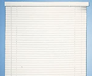 Achim Home Furnishings Morning Star 1-Inch Mini Blinds, 35 by 72-Inch, White