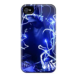 Vff17300IMKA Snap On Cases Covers Skin For Iphone 6(neon Blue Dj)