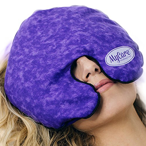 - MyCare Face Mask (with Washable Cover) Hot Cold Compress Therapy, Natural Reusable Relief for Migraine, Tension, Stress, Sinus, Headache and Relaxation (Purple)
