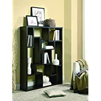 Coaster Furniture 9-Shelf Modular Asymmetrical Bookshelf, Cappuccino
