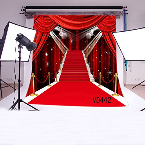 LB 10x10ft Red Carpet Vinyl Photography Backdrop Customized Photo Background Studio Prop VD442