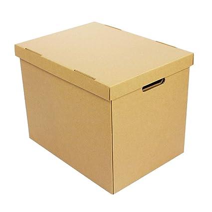 KKCF-HE Cajas De Cartón con Tapa Mango Perforado 3 Capas Corrugadas Paquete Plano Suministros