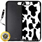 Custom iPhone 6/6S Case (Cow Print) Edge-to-Edge Rubber Black Cover with Shock and Scratch Protection   Lightweight, Ultra-Slim   Includes Stylus Pen by INNOSUB