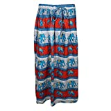 Mogul Womans Beach Skirt Elephant Printed Flared Boho Gypsy Maxi Skirts
