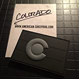 COLORADO STATE FLAG PVC PATCH - GHOST EDITION