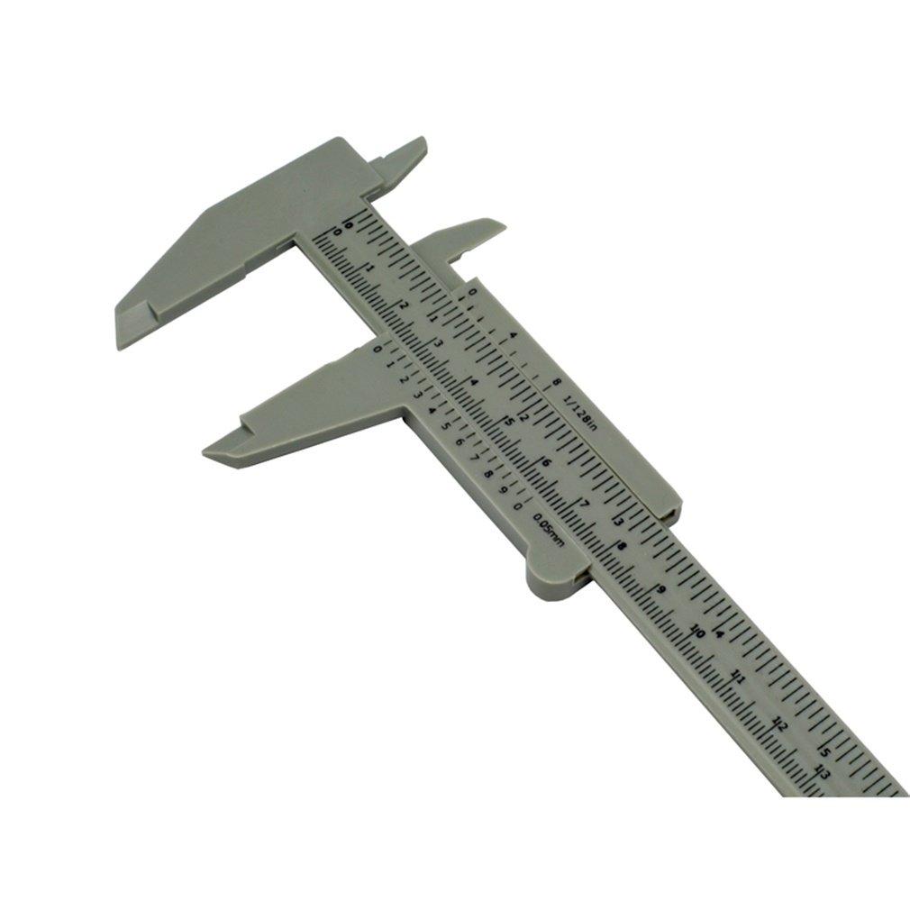 E-Greetbuy - Calibre deslizante de 150 mm de plá stico, herramienta de medició n herramienta de medición E-Greetshopping