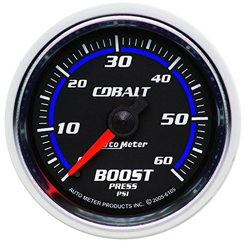 - Autometer Cobalt 52mm 0-60psi Mechanical Boost Gauge (am6105)