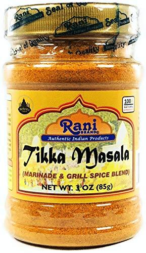 Rani Tikka Masala Indian 7-Spice Blend 3oz (85g) ~ Natural, Salt-Free | Vegan | No Colors | Gluten Free Ingredients | NON-GMO (Best Chicken Tikka Masala Sauce)