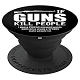 """If Guns Kill People I Guess Pencils Misspell Words, Cars Drive Drunk & Spoons Make People Fat"" funny design is perfect for all gun enthusiasts. Embrace your second amendment right! Give this as a gift to all gun owners and Republicans in your li..."