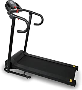 Folding Electric Motorized Treadmill - Jogging Walking Exercise Machine with Display - for Home/Office Use