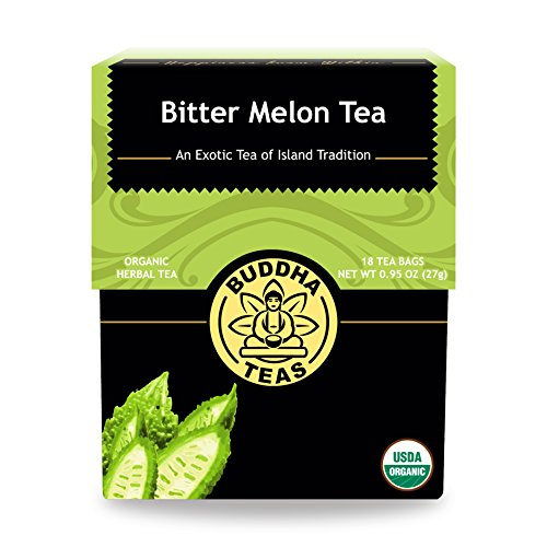 Organic Bitter Melon Tea, 18 Bleach-Free Tea Bags - Organic, Anti-Parasitic Tea Assists with Digestive Issues and Can Help Regulate Blood Sugar, No GMOs
