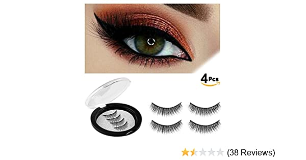 e0dcc78cbe3 Amazon.com: Verfanny Magnetic Eyelashes - No Glue - 3D Reusable False  Eyelashes Set for Natural Look - Best Fake Lashes Extensions (8 Pcs): Beauty