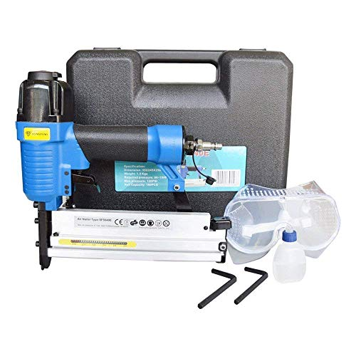18 gauge brad nailer pneumatic stapler 2 in 1 with Carrying Case & Safety Glasses