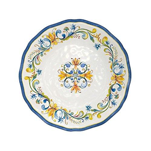 Le Cadeaux Floral Harvest - Melamine Salad Plate - Set of 4