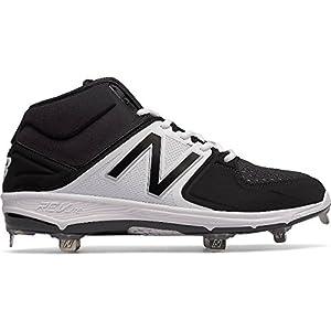 New Balance Men's M3000v3 Metal Baseball Shoe, Black/White, 11.5 D US