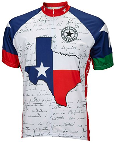 World Jerseys Men's Texas Cycling Jersey Large White ()